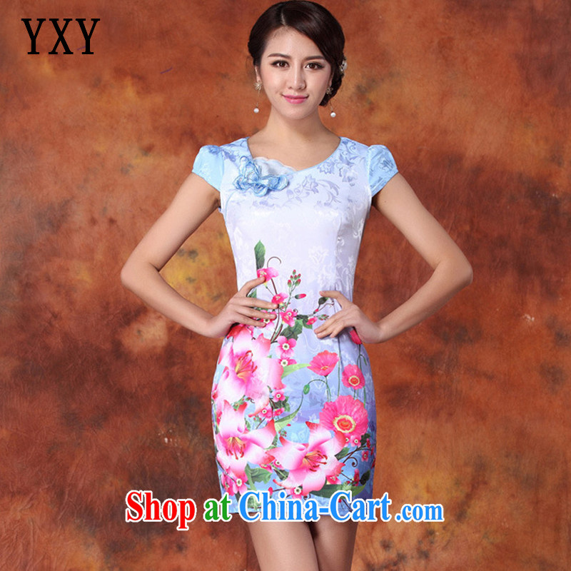 Stakeholders line cloud China's Ethnic Wind female elegant refined beauty cheongsam Chinese JT 1011 red XXL