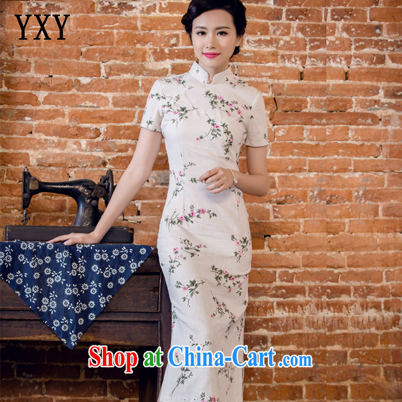 Stakeholders line cloud arts linen hand-tie short-sleeved long-dresses Lao JT 2063 forgetting D. M