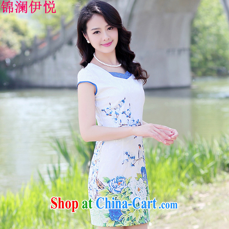 kam world the Hyatt 2015 embroidery short sleeve summer new, as well as in cultivating graphics thin female arts, China wind dresses ethnic wind stamp pack and floral dresses female Red Peony 3 XL, Kam-world, Yue, and shopping on the Internet
