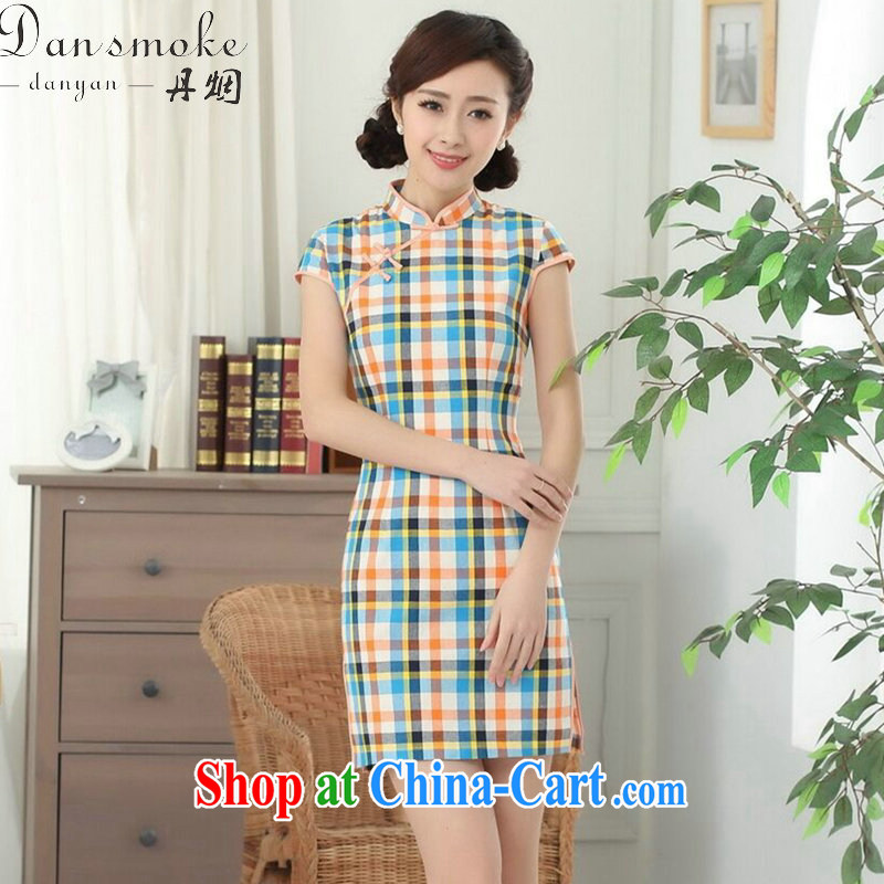 Bin Laden smoke-free summer new cheongsam dress cheongsam Chinese improved, for the Republic of tight cotton color, short cheongsam as shown color S