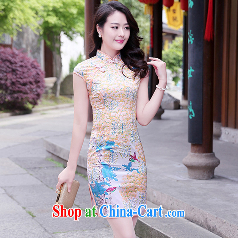 Philippines, 2015 seven Korean fashionable and fresh and elegant antique fancy, for cultivating the forklift truck cheongsam dress small perfume XXXL