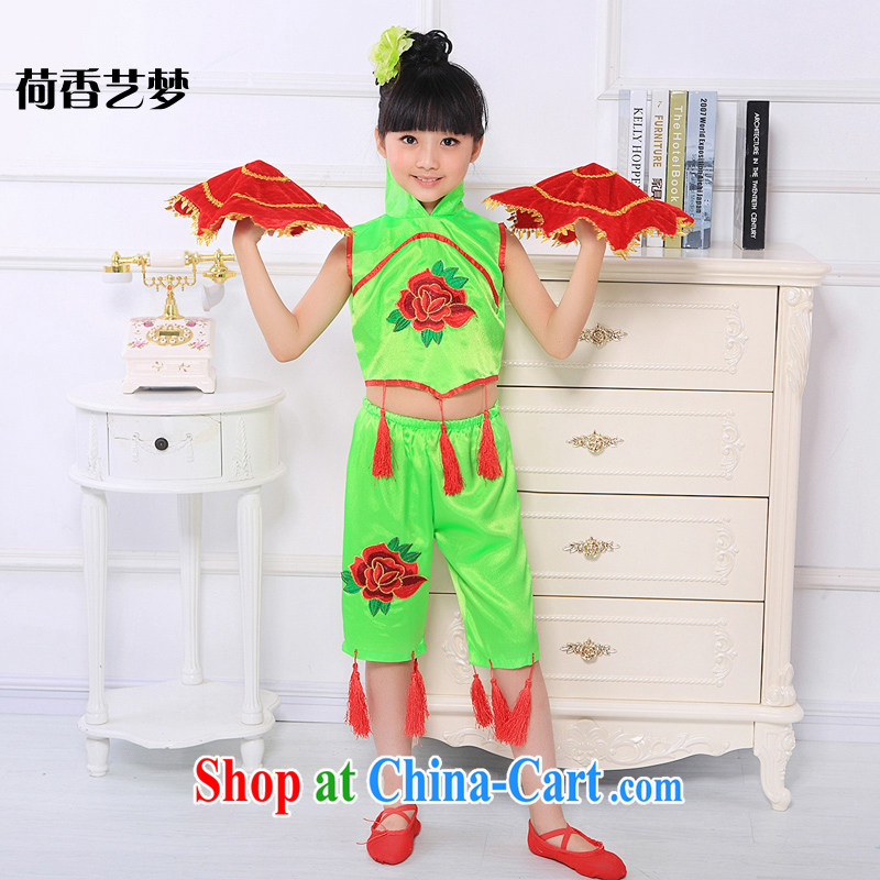 I should be grateful if you would arrange for her dream 61 Children Dance seedlings song and dance performances Han Chinese dance Chinese dance performances early childhood dance clothing green 160