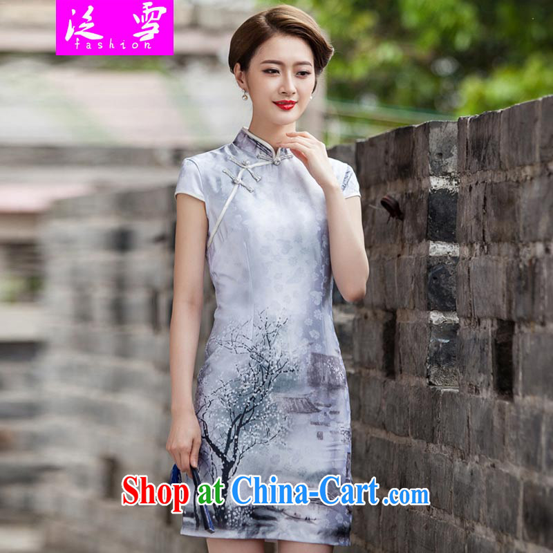 Snow and 2015 new painting classic short-sleeved qipao dress retro fashion China wind daily outfit 359 XL paintings