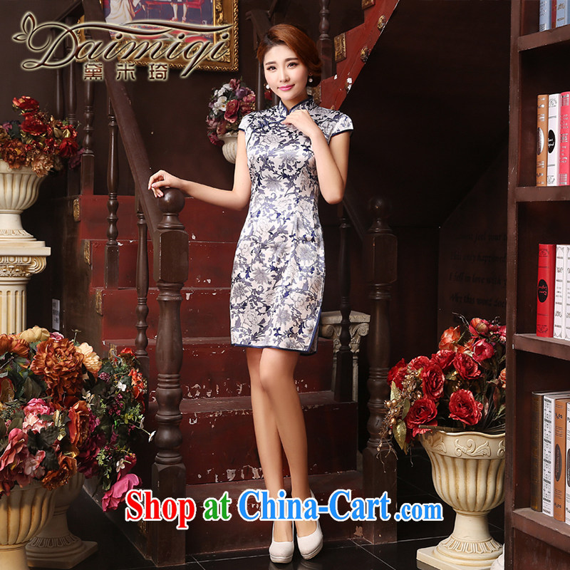 Mr Ronald ARCULLI qipao cheongsam with improved 2015 summer elegant elegant atmosphere small fragrant wind name Yuan beauty package and cheongsam dress light gray XXL