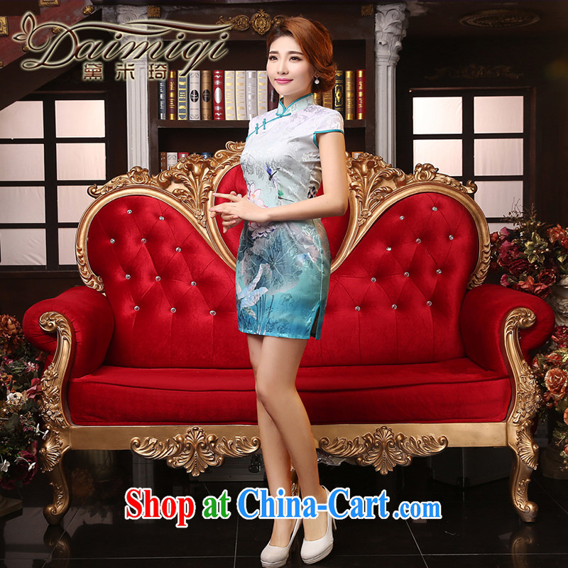 Dresses summer dresses skirts spring and summer new improved cheongsam dress of Korea, traditional embroidered retro style daily outfit white XXL