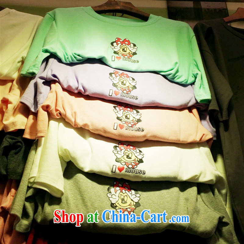 2015 new summer ice-cream-colored, female short-sleeved T pension gray are code
