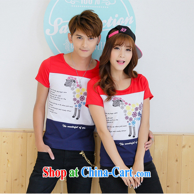 2015 beach couples with summer, new men and women half sleeve Korean Beauty couples short-sleeved T pension class students serving picture color XXL