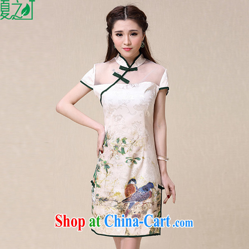 Mr Ronald ARCULLI's Foreign Minister Nobutaka Machimura 2015 spring and summer New China wind National wind cultivating high-end elegant qipao X 2139 photo color XXL