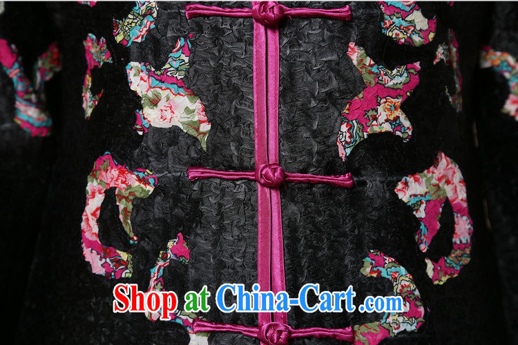 Yu Xiang Yu-na Ethnic Wind women 2015 spring new retro silk wrinkled Tang jackets Chinese 9 sleeveless black XXXL pictures, price, brand platters! Elections are good character, the national distribution, so why buy now enjoy more preferential! Health
