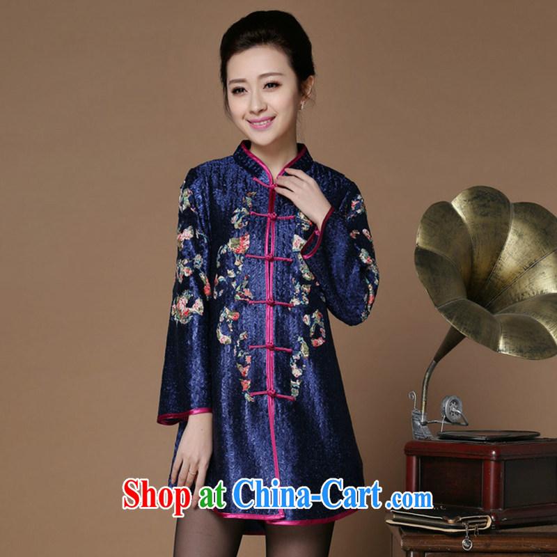 Yu Xiang Yu-na Ethnic Wind women 2015 spring new retro silk wrinkled Tang jackets Chinese 9 sleeveless black XXXL, Yu Hong-yeon (yuxiangyan), online shopping