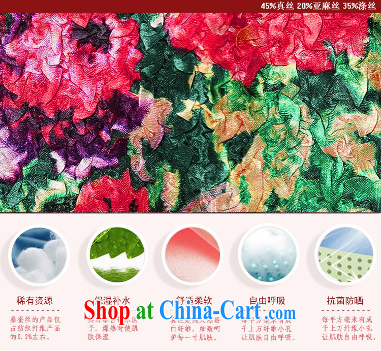 Yu Xiang Yu-na 2015 spring and summer New Tang on the code is silk wrinkled, long, 5 sub-sleeved jacket black XXL pictures, price, brand platters! Elections are good character, the national distribution, so why buy now enjoy more preferential! Health