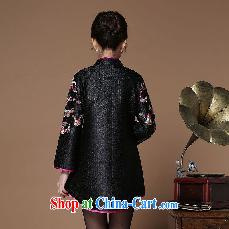 The Timorese Connie Ethnic Wind women 2015 spring new retro silk wrinkled Tang jackets Chinese 9 sleeveless black XXXL, the Timorese Connie, shopping on the Internet