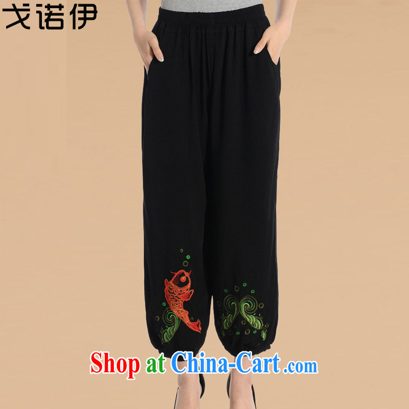 Al Gore, the spring and autumn 2015 middle-aged and older women pants XL old grandmother middle-aged female pants MOM 9 pants HMR 610 pants 4 XL .