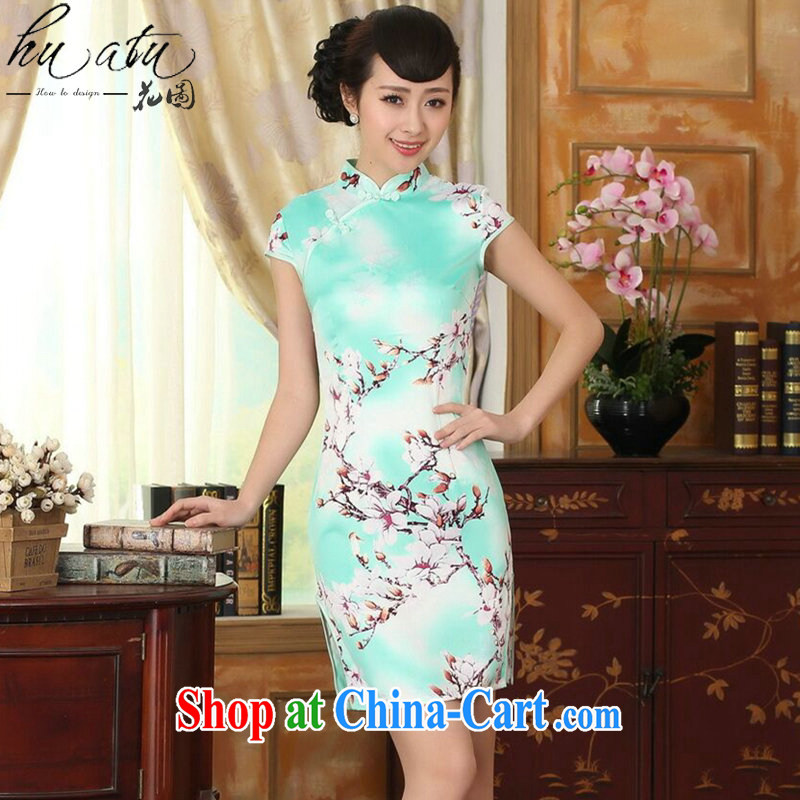 Take the new summer female elegance Chinese qipao,Chinese, for a tight damask video thin short dresses such as the color 2 XL