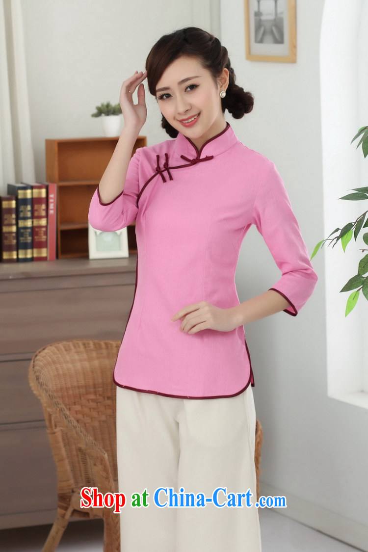Spend figure, Chinese Han-cotton the Chinese, who is a tight literary Ethnic Wind blouses Tang is improved - D sky 2 XL pictures, price, brand platters! Elections are good character, the national distribution, so why buy now enjoy more preferential! Health
