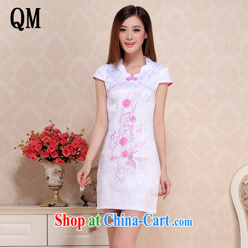 light at the improved Daily Beauty dresses, dresses of Korea girls College wind cheongsam AQE 0716 pink S