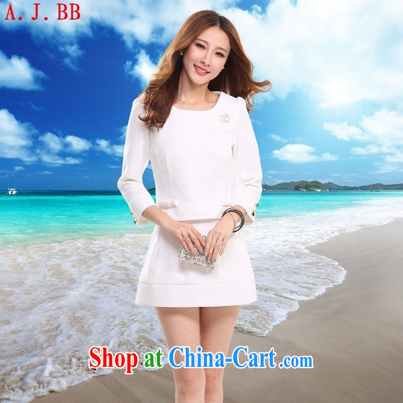 Black butterfly 2015 new t-shirt skirt video thin two-piece dress female A B 3 9708 black L