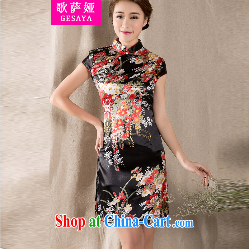Song, Julia 2015 new spring and summer with a short-sleeved Chinese qipao refined antique China wind women dress suit XXL