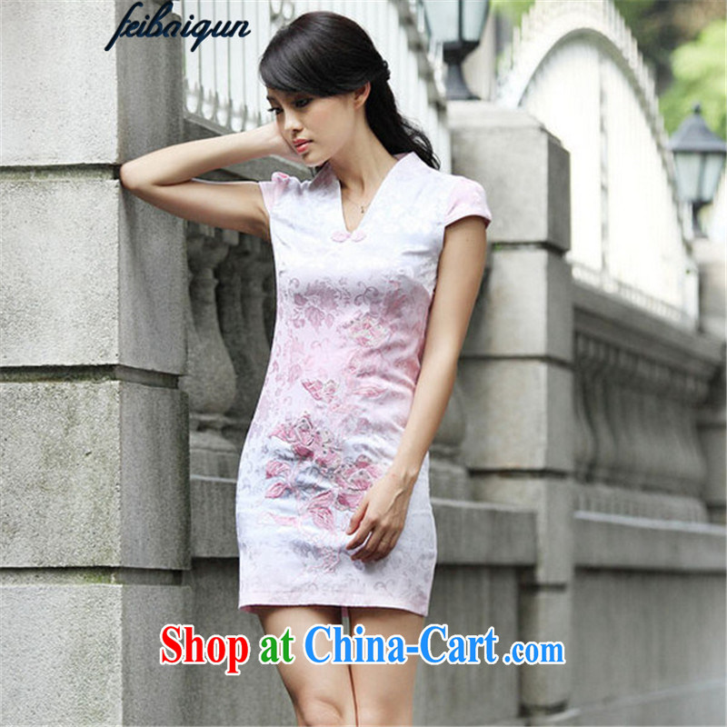 100 Patek Philippe 2015 skirt new retro lace improved stylish dresses dresses JE 044 pink XL