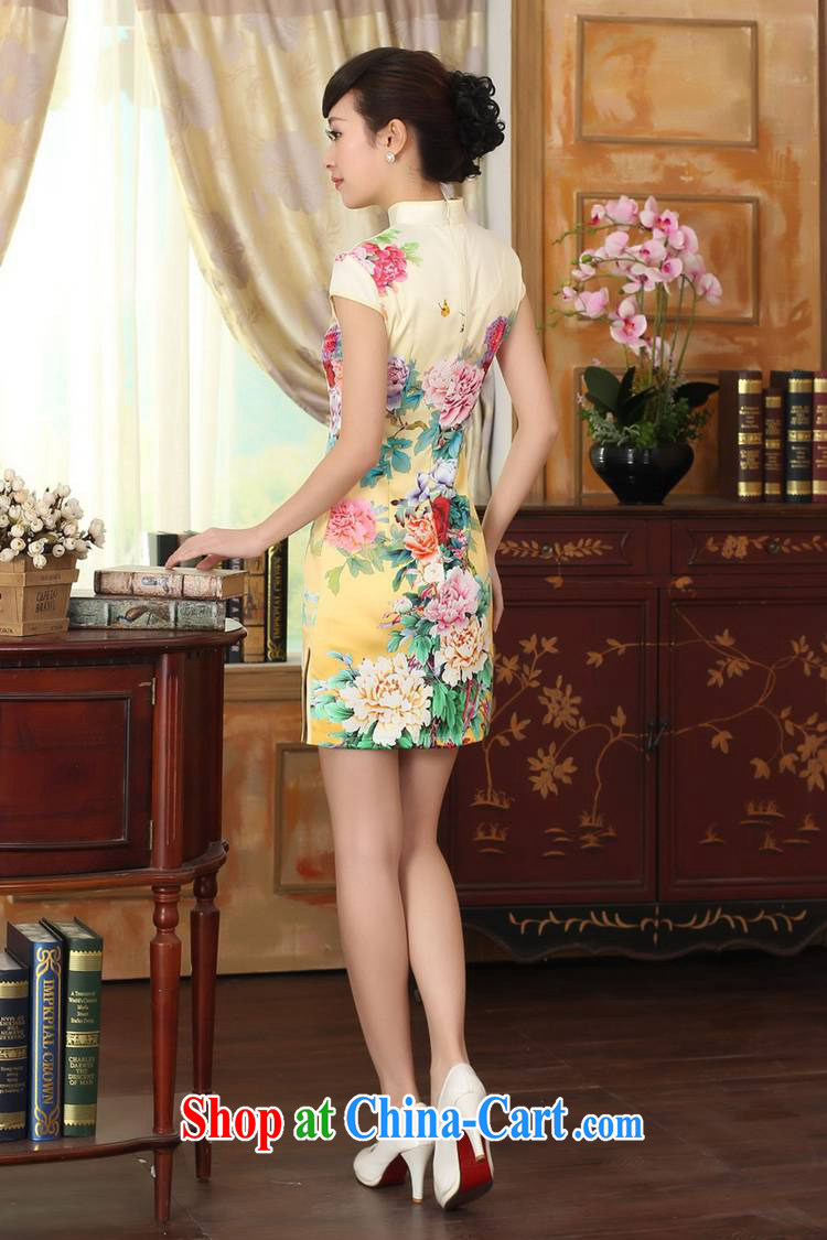 To fuser summer stylish new ethnic wind improved Chinese qipao, for a tight stamp beauty short Chinese qipao dress LGD/D 0296 #2 sky XL pictures, price, brand platters! Elections are good character, the national distribution, so why buy now enjoy more preferential! Health