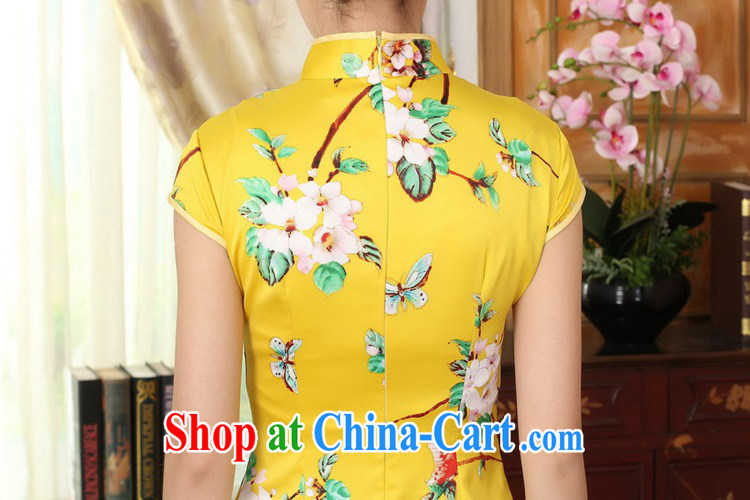 According to fuser summer stylish new retro improved Chinese Chinese qipao Classic tray snaps cultivating short Chinese qipao dress LGD/D 0004 #gold 2XL pictures, price, brand platters! Elections are good character, the national distribution, so why buy now enjoy more preferential! Health