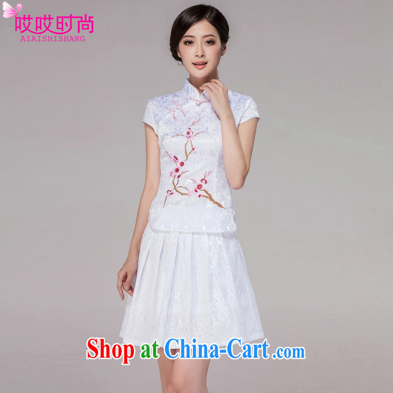 Ah, ah, stylish summer 2015 new female high-end retro style daily outfit #1125 pink XXL