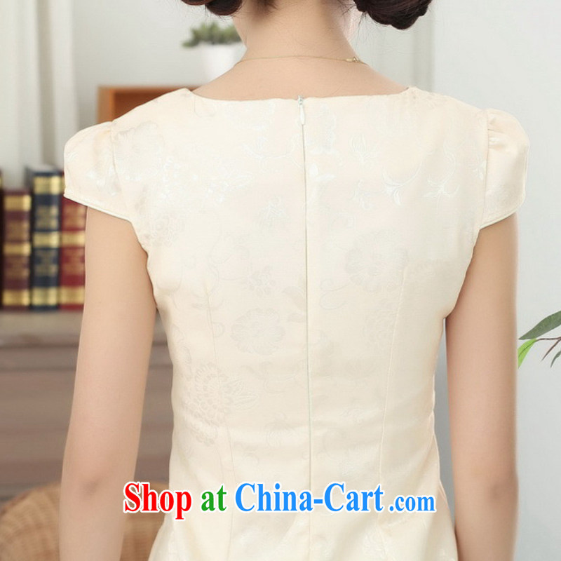 According to fuser summer stylish new retro improved Chinese qipao, for the flap embroidered short, Sau San Tong with cheongsam LGD/D 0310 # -B pink 2 XL, according to fuser, shopping on the Internet