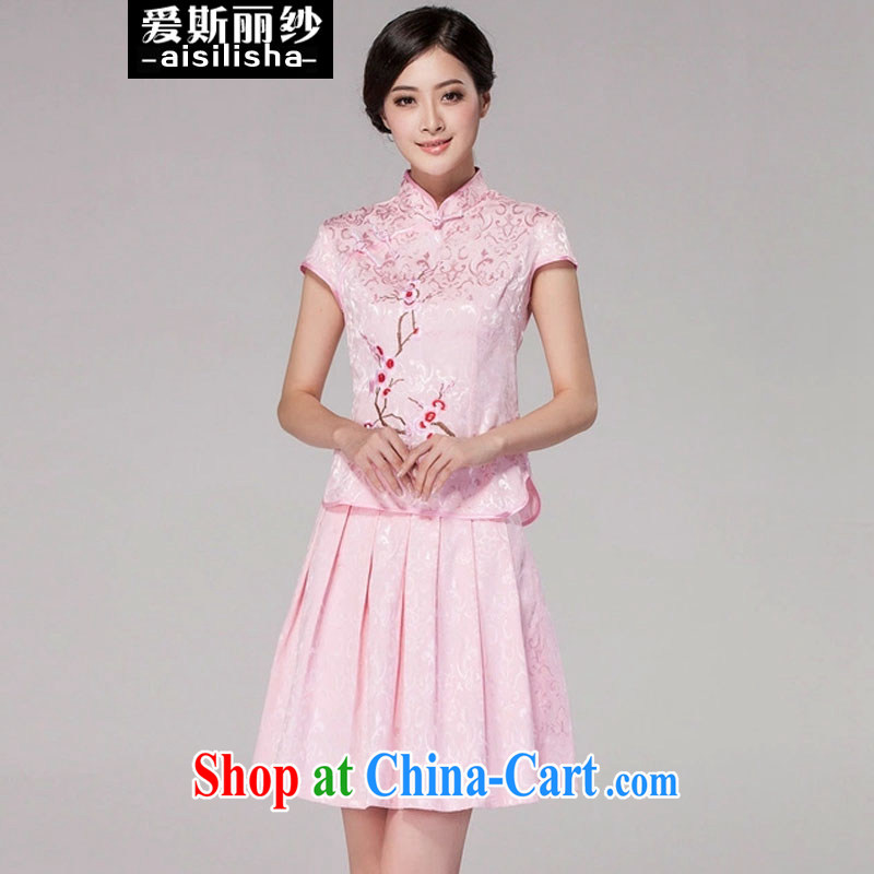 Love, Uganda, 2015 summer new women Tang with retro bridesmaid Service Bridal toast dress beauty dress, pink dresses M