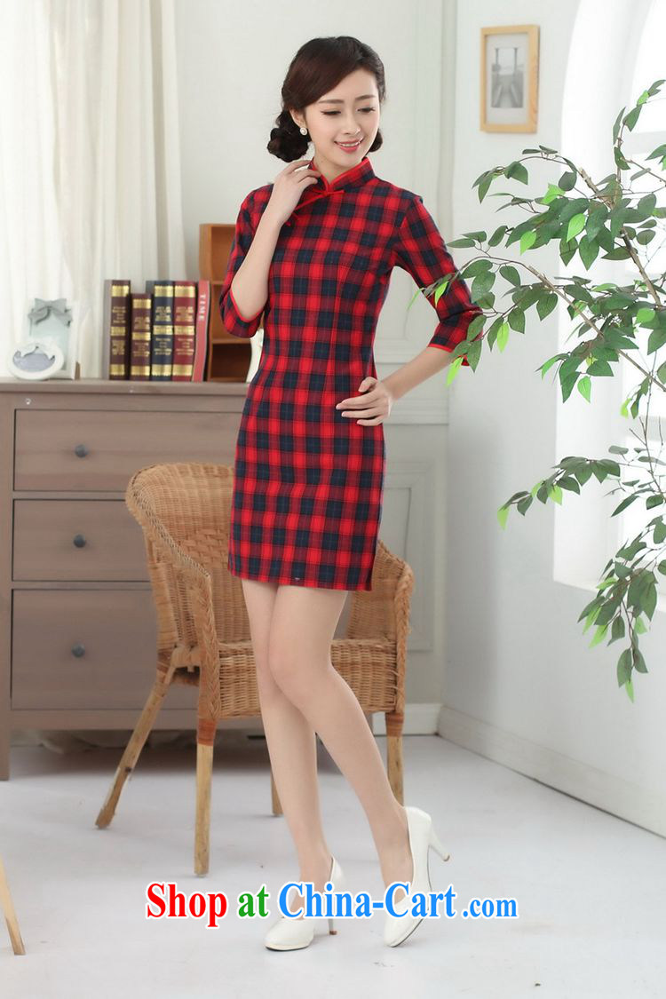 According to fuser summer stylish new Chinese improved Chinese qipao, for a tight, cultivating short Chinese qipao dress LGD/E 0021 # -A PO blue 2 XL pictures, price, brand platters! Elections are good character, the national distribution, so why buy now enjoy more preferential! Health