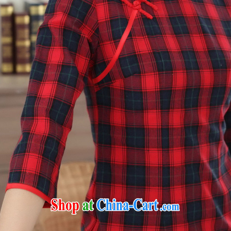 According to fuser summer stylish new Chinese improved Chinese qipao, for a tight, cultivating short Chinese qipao dress LGD/E 0021 # -A PO blue 2 XL, fuser, and shopping on the Internet
