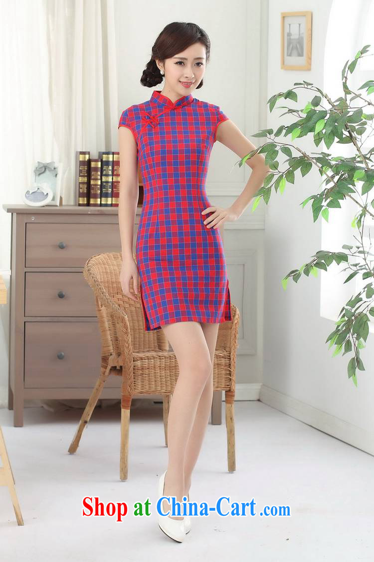 According to fuser summer stylish new retro improved Chinese Chinese qipao, for a tight, cultivating Chinese cheongsam dress LGD/D 0308 # -A lake blue S pictures, price, brand platters! Elections are good character, the national distribution, so why buy now enjoy more preferential! Health