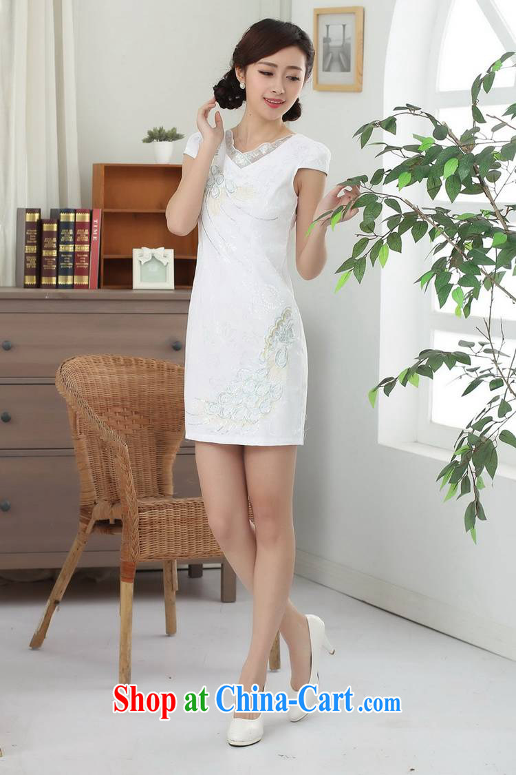 According to fuser summer stylish new Ethnic Wind improved Chinese qipao rounded ends cultivating short Chinese qipao dress LGD/D 0312 # -B pink XL pictures, price, brand platters! Elections are good character, the national distribution, so why buy now enjoy more preferential! Health