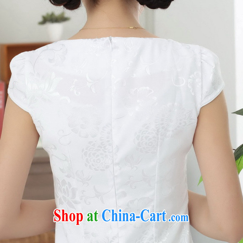 According to fuser summer stylish new Ethnic Wind improved Chinese qipao rounded ends cultivating short Chinese qipao dress LGD/D 0312 # -B pink XL, fuser, and shopping on the Internet