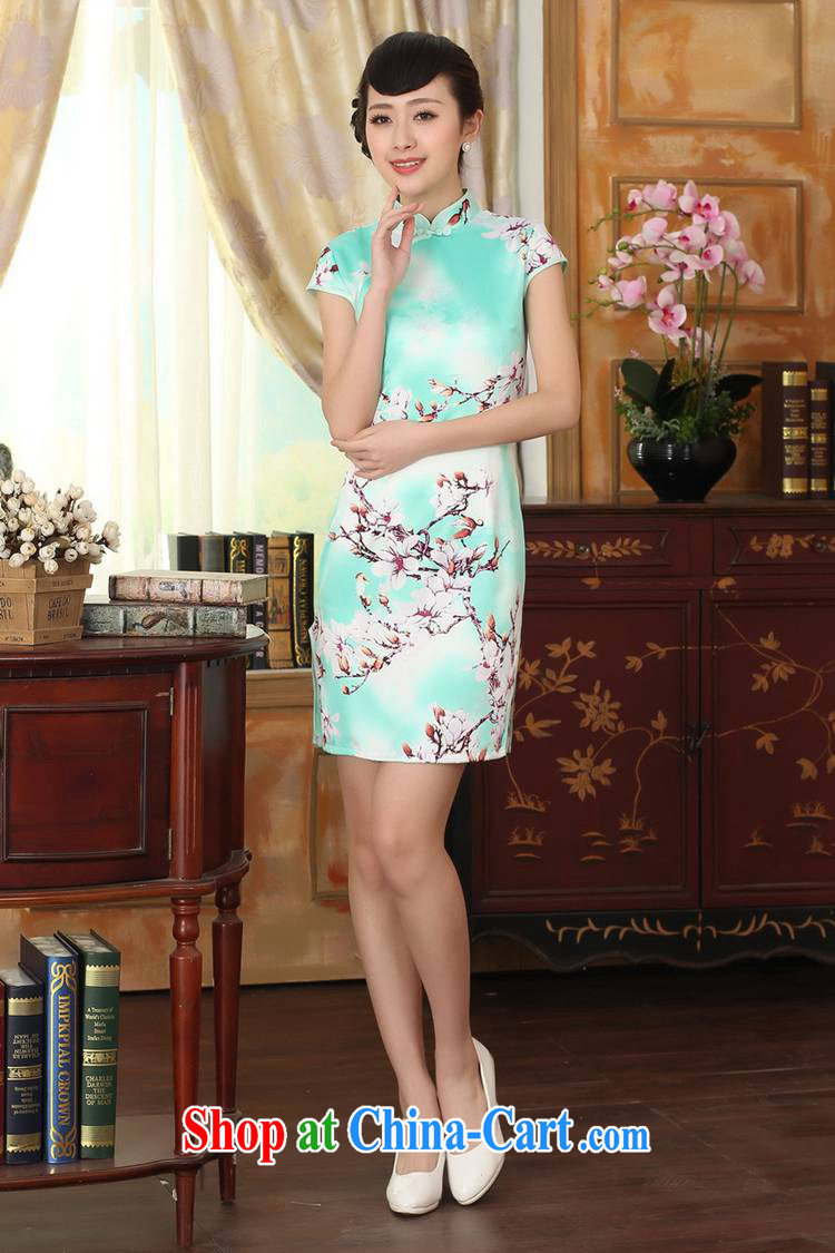 According to fuser summer stylish new Chinese improved Chinese qipao, for a tight Classic tray snaps cultivating Chinese qipao dress LGD/D 0297 #2 sky XL pictures, price, brand platters! Elections are good character, the national distribution, so why buy now enjoy more preferential! Health