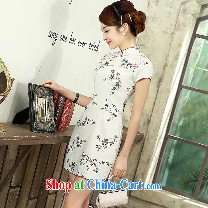 Daily outfit summer 2015 New Beauty video thin retro the cotton Ma short-sleeved cluster 1072 Q XXL suit