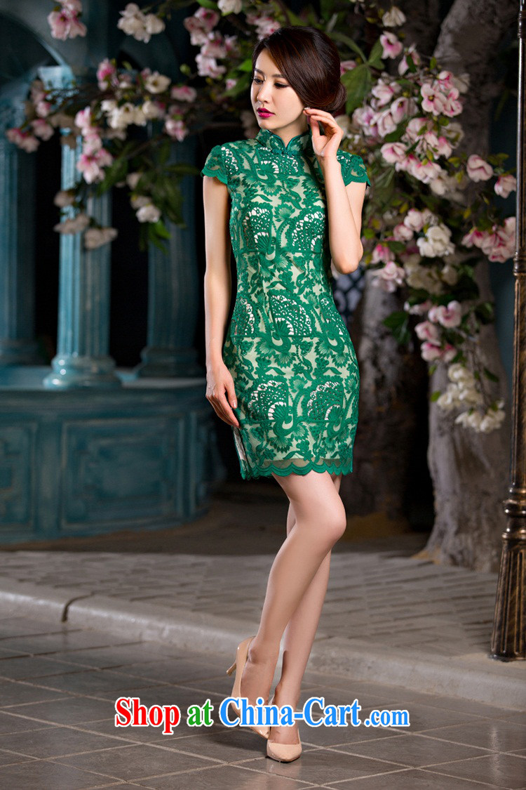 Slim li know that green, cheongsam dress summer new lace cheongsam beauty sense of Ms. improved cheongsam retro QLZ Q 15 6064 green, XL pre-sale 10 days pictures, price, brand platters! Elections are good character, the national distribution, so why buy now enjoy more preferential! Health