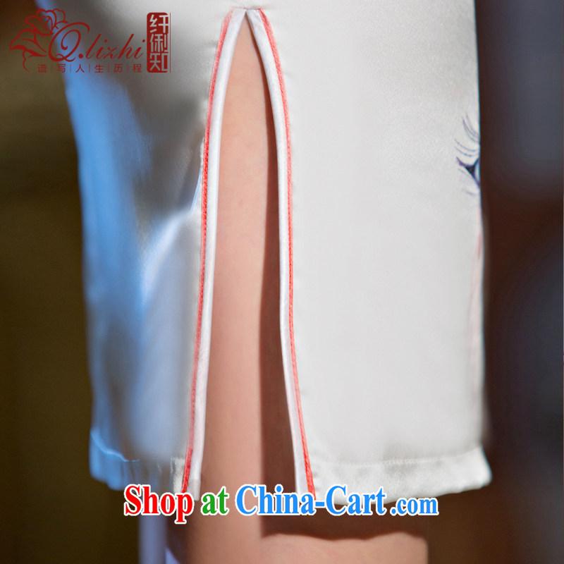 Slim li know that light, Colombia new dresses summer short, short-sleeved retro dresses improved cultivating everyday dress stylish QLZ Q 15 6065 light makeup XXL, slim Li (Q . LIZHI), shopping on the Internet