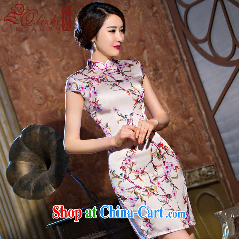 Slim li know MGM Studios summer new cheongsam dress retro fashion beauty cheongsam dress daily short dresses female QLZ Q 15 6066 MGM Studios - commercial edge L