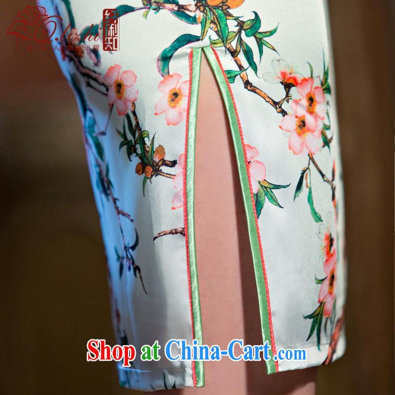 Slim li know that MGM Studios summer new cheongsam dress retro fashion beauty qipao gown daily short dresses female QLZ Q 15 6066 MGM Studios - commercial edge L, slim Li (Q . LIZHI), online shopping