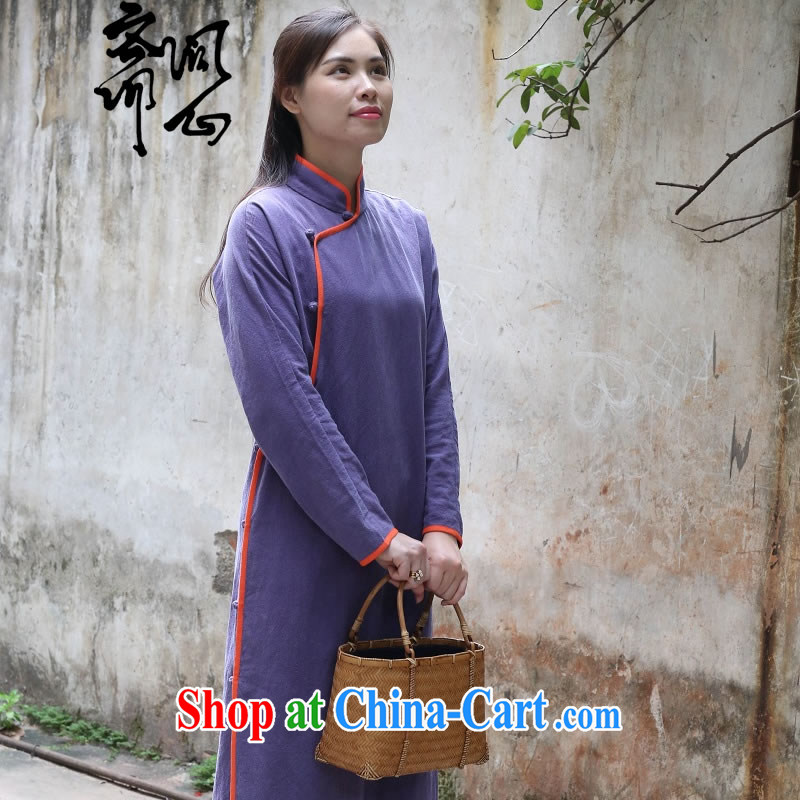 q heart Id al-Fitr _Yue and spring as soon as possible new Chinese units, the Commission adopted the withholding Chinese qipao gown skirt 1954 purple L