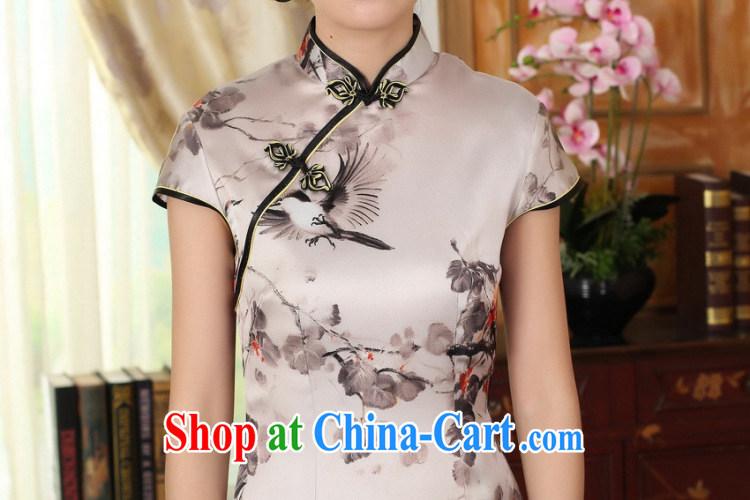 Dan smoke summer Women's clothes silk retro sauna silk poster stretch Satin beauty double short cheongsam Chinese improved dress such as the color 2 XL pictures, price, brand platters! Elections are good character, the national distribution, so why buy now enjoy more preferential! Health