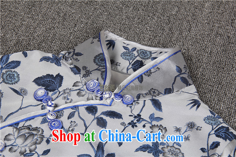 9 month dress * Liu beauty summer 2015 with new, high-end custom short-sleeved blue, long marriage, Ms. cheongsam evening dress attire such as the color (large spot XL pictures, price, brand platters! Elections are good character, the national distribution, so why buy now enjoy more preferential! Health