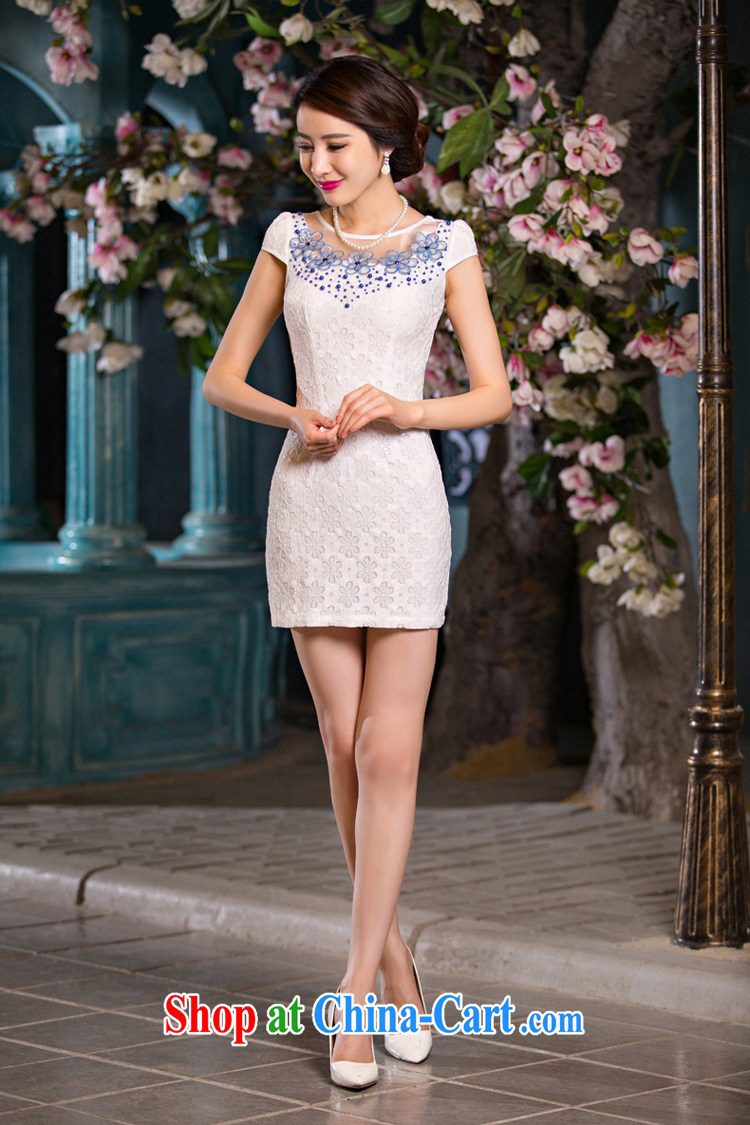 Slim Li known verse summer love new, improved Stylish retro short cheongsam dress fine lace daily dresses QLZ Q 15 6068 verse love - Lucy yarn XXL pictures, price, brand platters! Elections are good character, the national distribution, so why buy now enjoy more preferential! Health