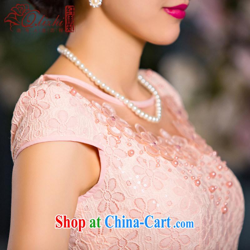Slim Li known verse, summer new, improved Stylish retro short cheongsam dress fine lace daily dresses QLZ Q 15 6068 verse love - Lucy yarn XXL, slim Li (Q . LIZHI), online shopping