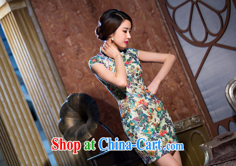 Slim li know chestnut flower cheongsam dress summer new lace cheongsam beauty sexy female cheongsam dress retro QLZ Q 15 6069 chestnut flower XXXL pictures, price, brand platters! Elections are good character, the national distribution, so why buy now enjoy more preferential! Health