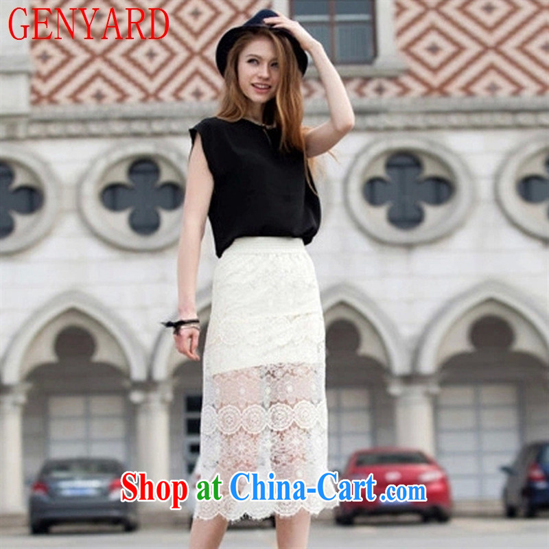 Qin Qing SHOP NEW Summer Snow-woven shirts Korean version T shirt ladies sleeveless loose small shirts, T-shirt white XXL