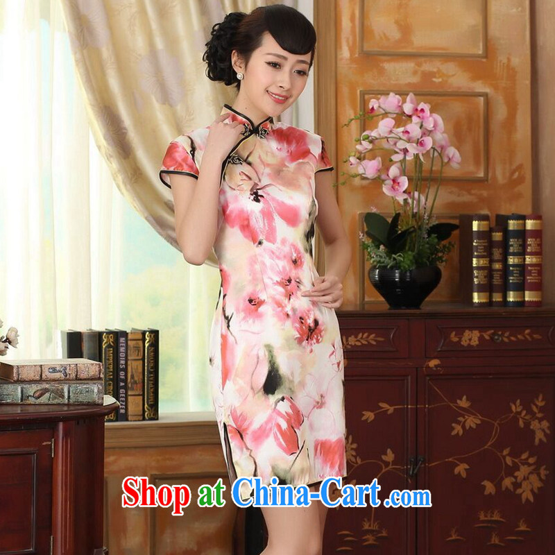 Find Sophie heavy silk retro classic sauna silk poster stretch the improved cultivation double short cheongsam dress female water toner 2 XL