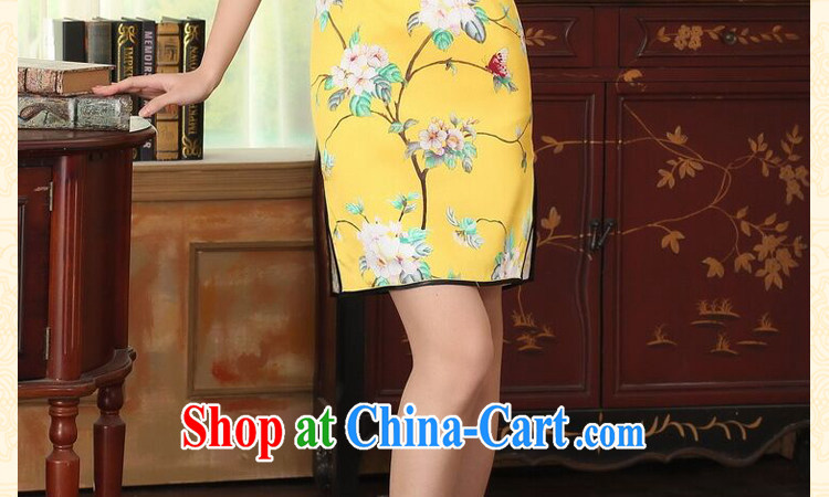 Dan smoke summer heavy silk retro classic sauna silk poster stretch the improved cultivation double short cheongsam dress such as the color 2 XL pictures, price, brand platters! Elections are good character, the national distribution, so why buy now enjoy more preferential! Health