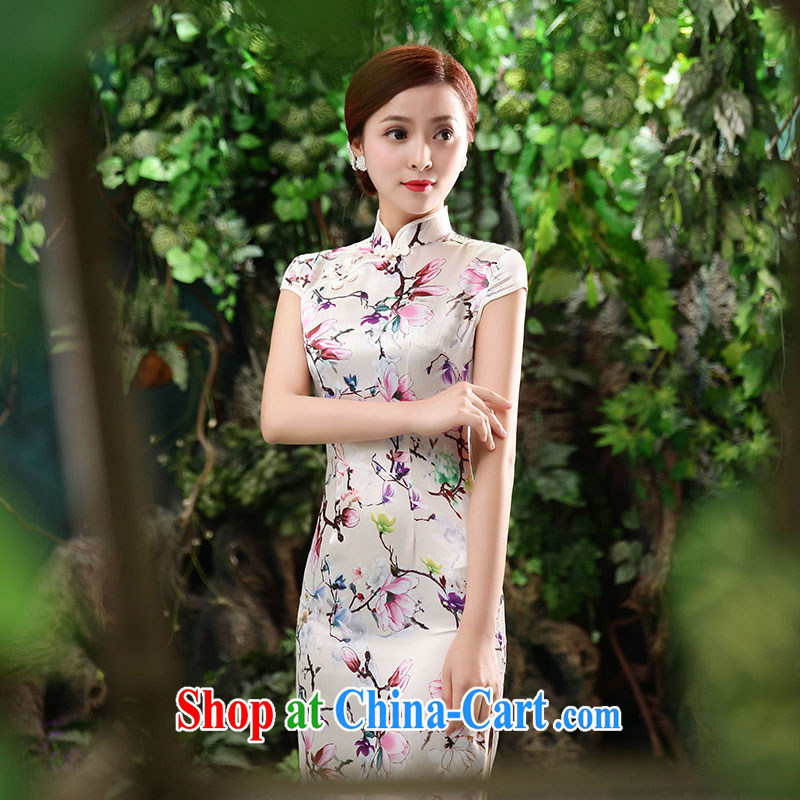 Jubilee 1000 bride spring 2015 summer Daily Beauty graphics thin retro improved cheongsam dress X 2069, Jacques-hee XXL