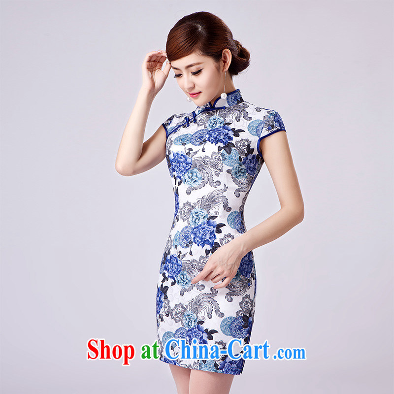 2015 spring new girls spring dresses, professional clothing lace sleeveless package and dresses L 166 dark blue XL